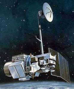 Landsat 5 en orbite (vue d'artiste). Crédit Nasa/USGS