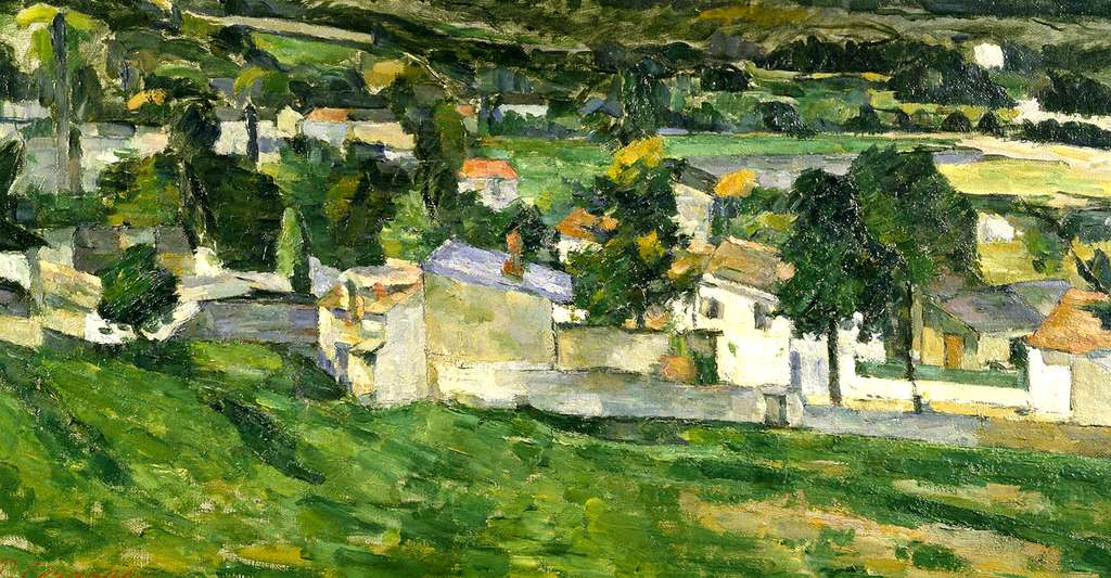 Auvers sur Oise de Paul Cezanne. © artmarketmonitor.com, Wikimedia commons, DP