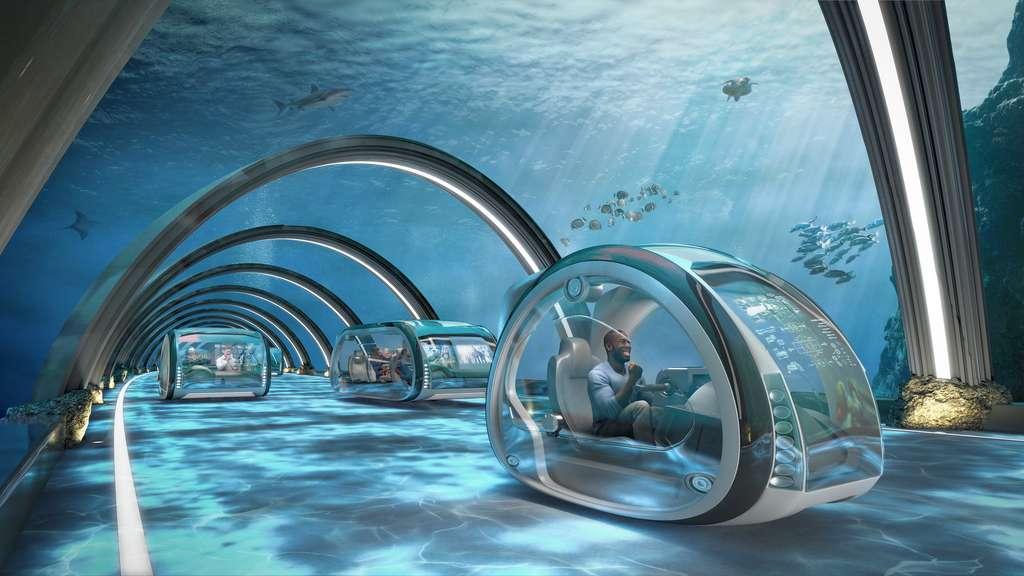 Des autoroutes sous-marines permettront de relier le Royaume-Uni avec l'Europe et la Scandinavie en moins d'une heure. © Samsung KX50 report
