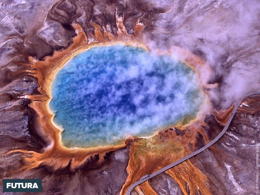 Grand prismatic spring Parc national de Yellowstone Wyoming