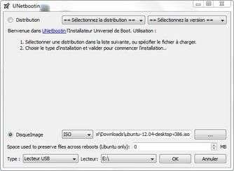 Vous pouvez installer Ubuntu à partir de la liste des distributions en haut du programme. Cette liste n'est en revanche pas totalement à jour. Il est donc préférable de télécharger le fichier .iso séparément. © Guénaël Pépin