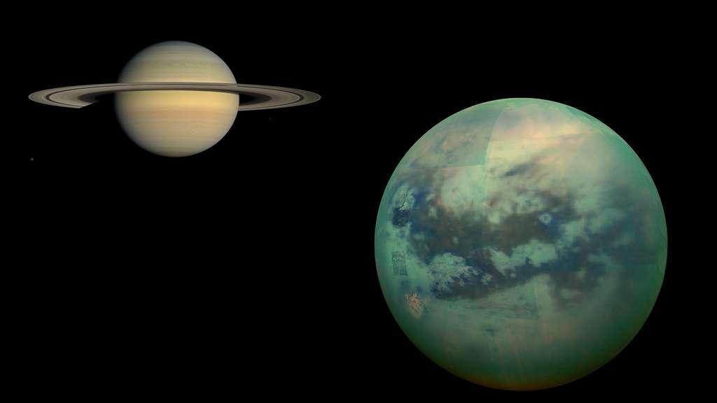 Saturne et sa lune Titan