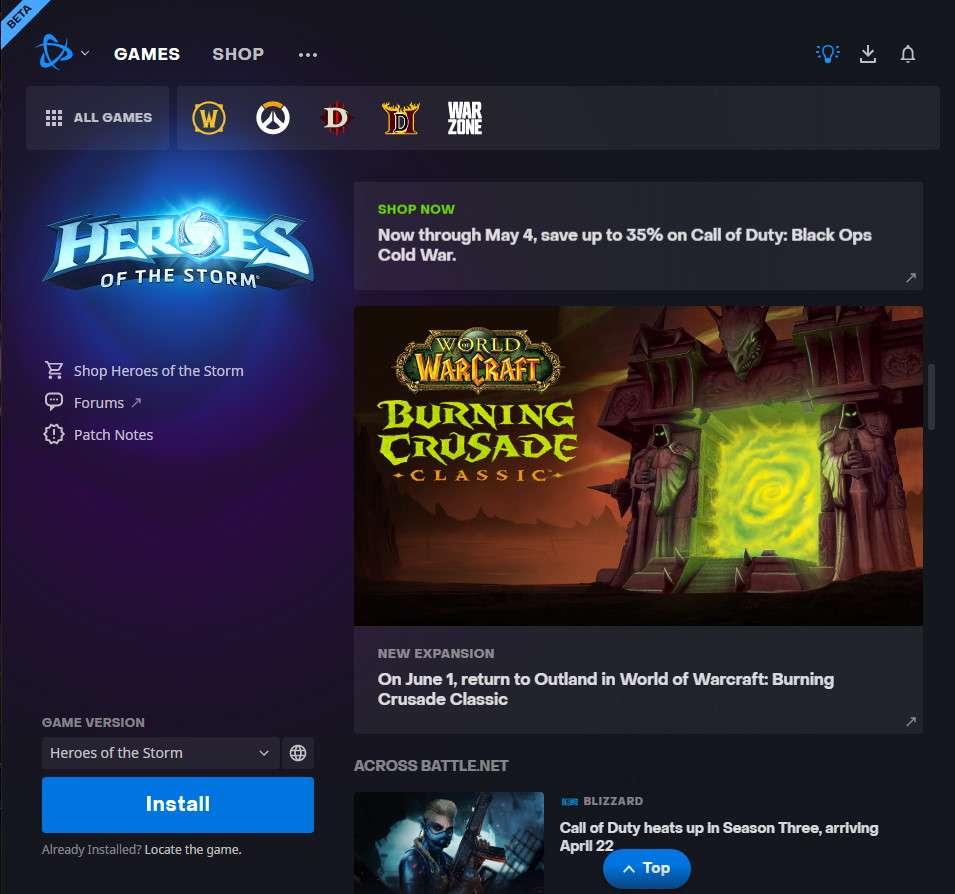 Une capture d'écran de l'article dans le lanceur de jeu de Blizzard. © mfdaw sur Reddit