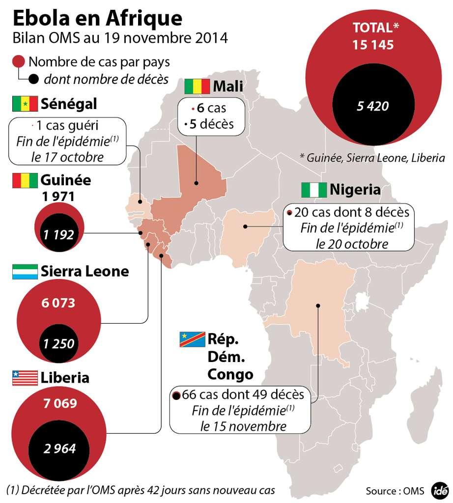 Le virus Ebola a fait son apparition au Mali et sévit toujours en Guinée, au Liberia et en Sierra Leone. © Idé