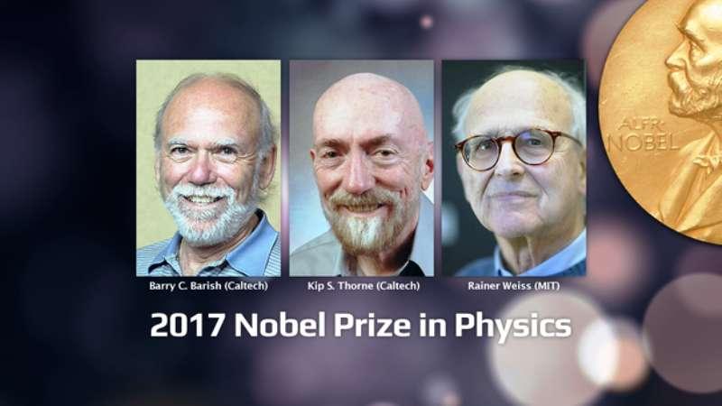 Les trois lauréats du prix Nobel de physique 2017. © LIGO Scientific Collaboration
