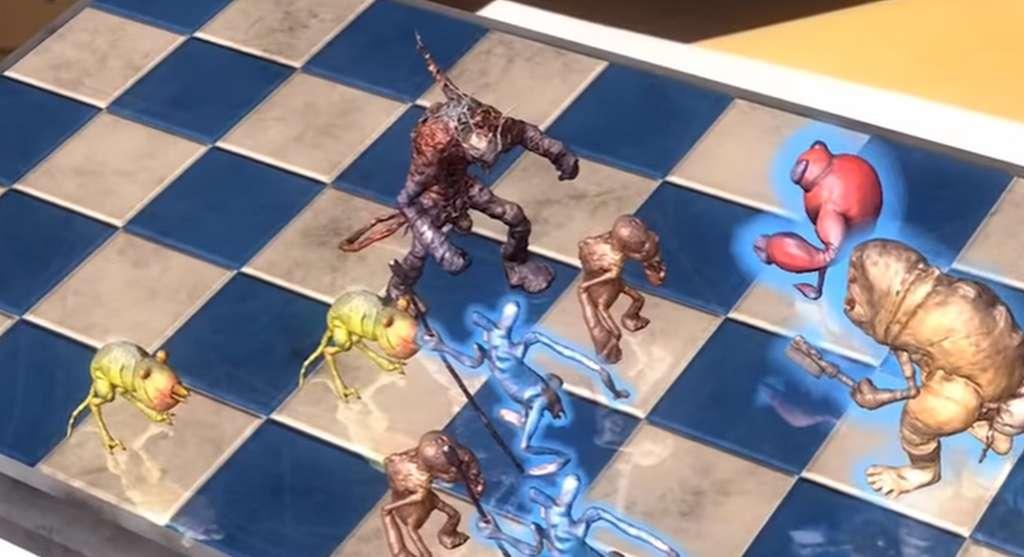 Voici à quoi ressemblera le jeu HoloGrid : Monster Battle dérivé du Dejarik de Star Wars. Principale différence, les parties ne se joueront pas à bord du Faucon Millenium contre Chewbacca ! © Tippett Studio, HappyGiant