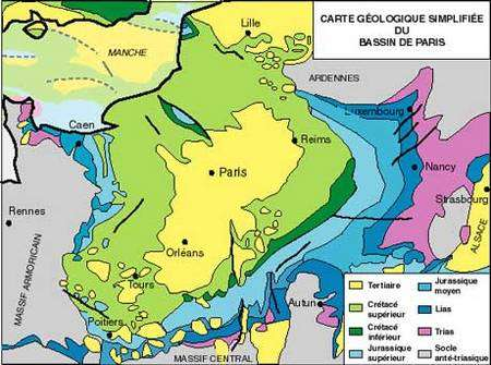 Carte géologique simplifiée