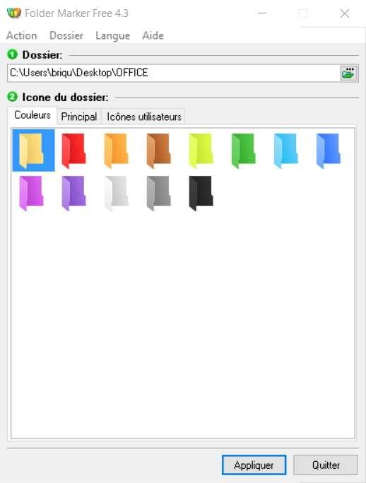 Folder Marker Free est le logiciel parfait pour changer les icônes de vos dossiers et être ainsi mieux organisé. © ArcticLine Software