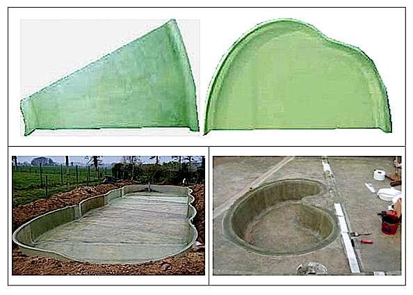 Quand préfabriqué rime avec modularité. Ces modules de diverses formes, en polyester + fibre de verre, permettent de réaliser des bassins de très grandes dimensions. D'une même hauteur de 60 cm, leur assemblage s'effectue par soudure à froid. Il est possible d'y adjoindre une fosse pour augmenter la profondeur. Le matériau peut être teinté dans la masse ou peint sur demande. Laissé tel quel, il donne au bassin un aspect neutre qui, une fois installé, prend la couleur de la terre. © jcb-aquatique-paysage.com