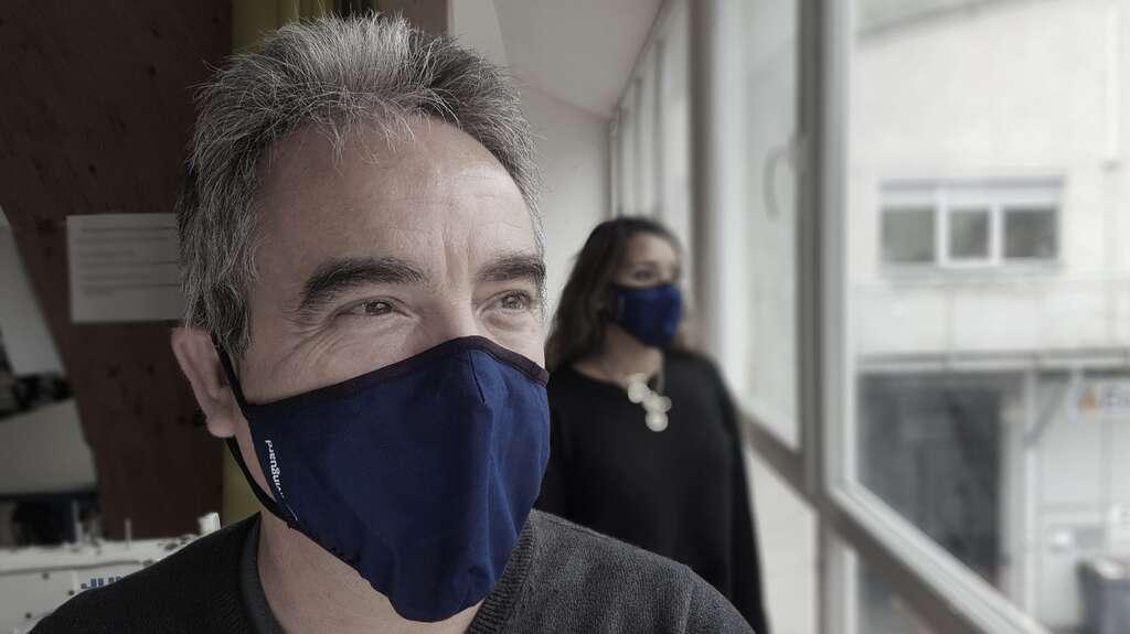 Ce masque aux propriétés actives neutralise systématiquement les bactéries. Breveté par la société Suisse Livinguard, il est vendu en France par Dr Technologie. © DR Technologies