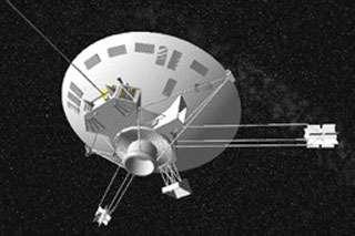 La sonde spatiale Pioneer 10 modélisée par Celestia.