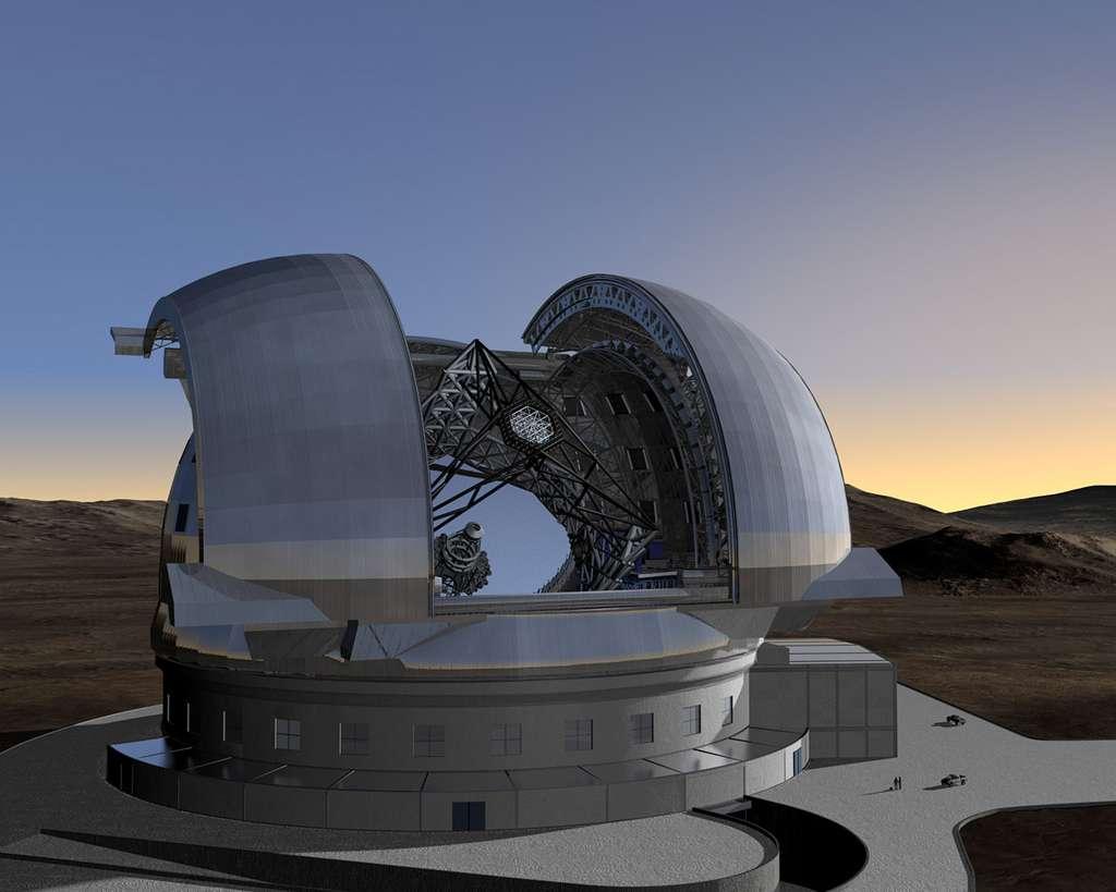 Lorsqu'il sera opérationnel, le télescope E-ELT aura pour tâche d'observer et d'imager les objets qui se sont formés entre 100.000 et 400.000 ans après le Big Bang. © ESO