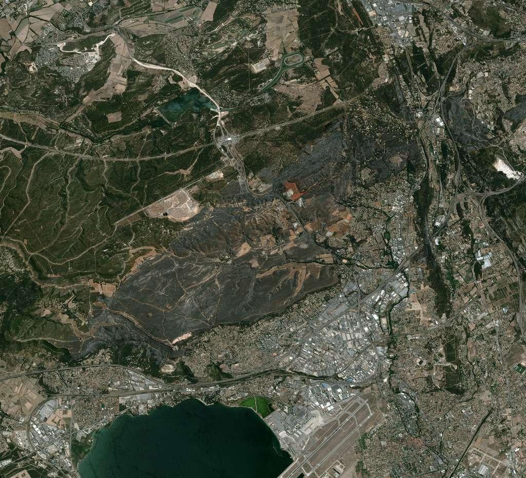 Cette image d'une résolution de 0,5 m a été acquise par le satellite Pléiades. L'altitude — plus de 750 km — est similaire à celle de Spot-6, mais, ici, le satellite était quasiment à la verticale de la zone au moment de la prise de vue. © Cnes 2016, distribution Airbus DS