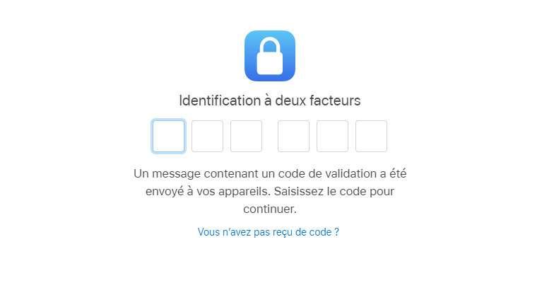 La double authentification nécessite d'avoir un appareil Apple près de soi ou d'accepter de recevoir un SMS © Futura
