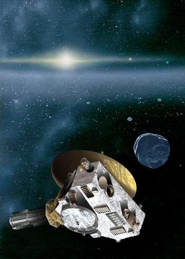 New Horizons dans l'environnement de la ceinture de Kuiper (vue d'artiste). © Nasa
