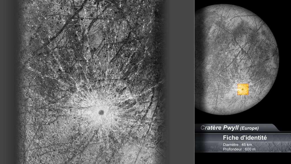 Le cratère Pwyll sur Europe, lune de Jupiter