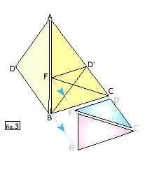 La figure 3 représente les triangles d'or que l'on peut facilement tracer et qui forment les quatre pièces du puzzle que j'ai créé et qui passionne mes petites filles (Maylis, 6 ans et Carla 4 ans).