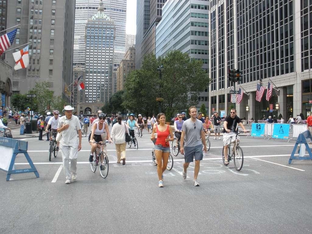 Journée sans voiture à New York