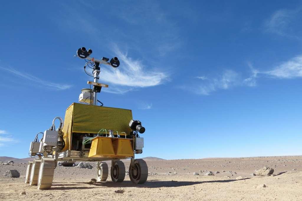 Les données acquises pendant cette expérience seront également utilisées pour développer des simulateurs. Au niveau opérationnel bien évidemment, mais également pour tout ce qui concerne la plateforme, comme le contrôle, la locomotion, ou encore les interactions entre la plateforme et le sol. © Elie Allouis, Astrium