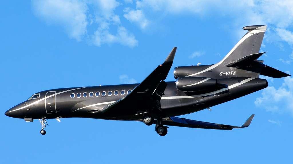 Le Falcon 7X, de Dassault Aviation, un avion présidentiel