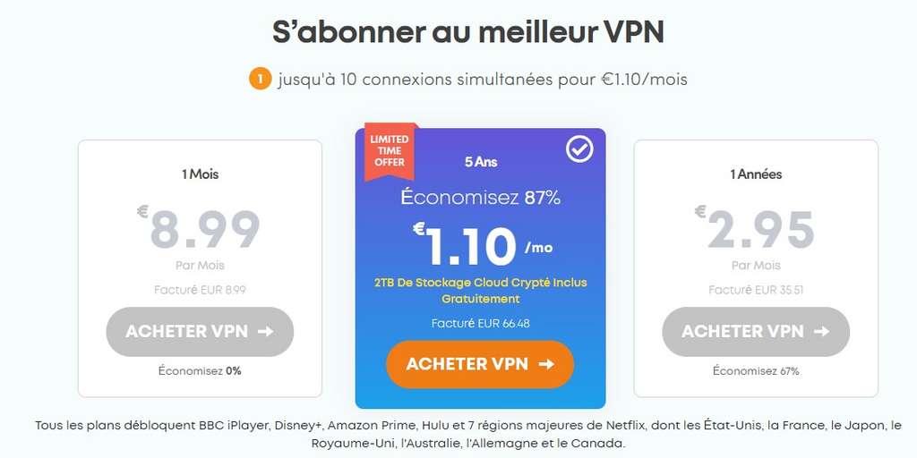 Choisissez l'abonnement de 5 ans d'IvacyVPN © IvacyVPN