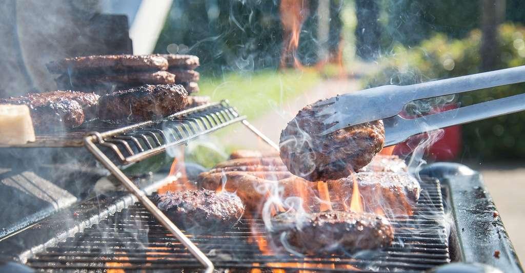 La cuisson au barbecue produit des hydrocarbures aromatiques polycycliques (HAP) dangereux pour notre santé. On en trouve au cœur de la viande elle-même, mais aussi dans la fumée qui se dégage du barbecue. © Skitterphoto, Pixabay, CC0 Creative Commons