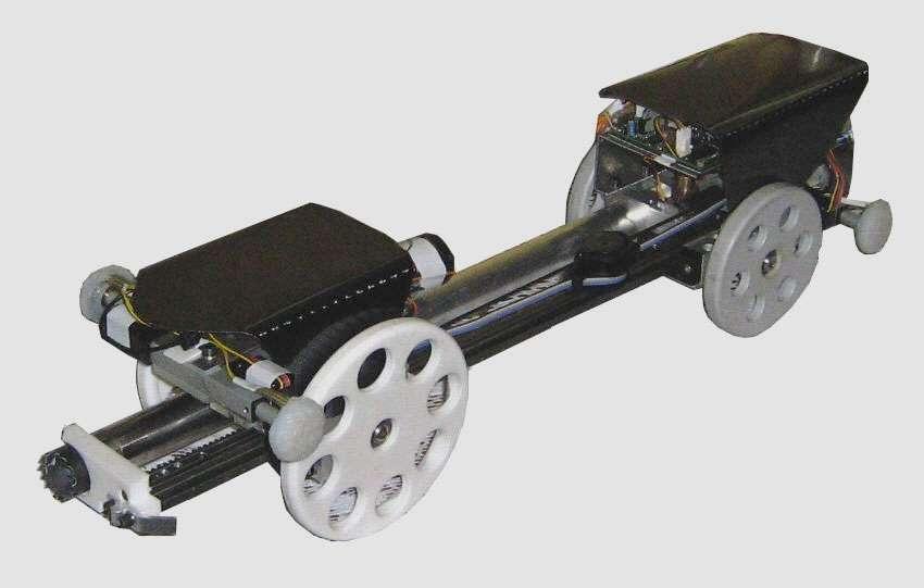 Le prototype du robot Djedi. Il a été conçu par l'université de Leeds (Royaume-Uni) et Dassault Systèmes. © DR