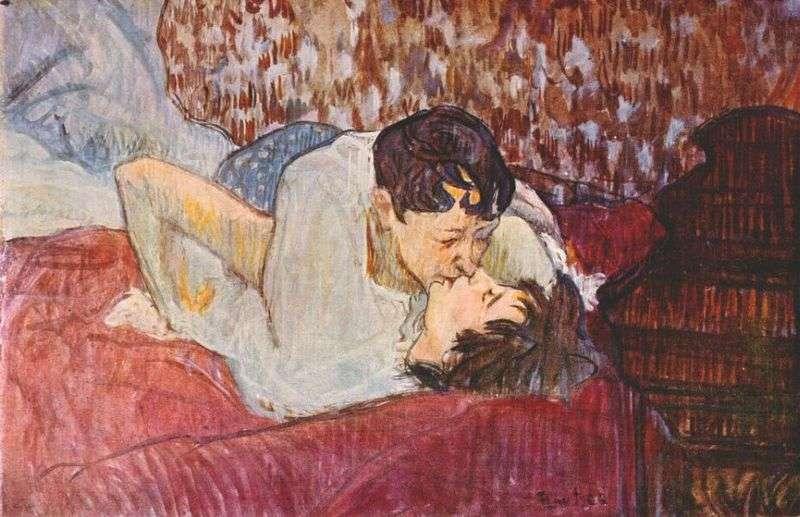 Quel est l'impact du sexe sur les émotions ? Ici, Le Baiser, de Toulouse-Lautrec. © Toulouse-Lautrec, DP