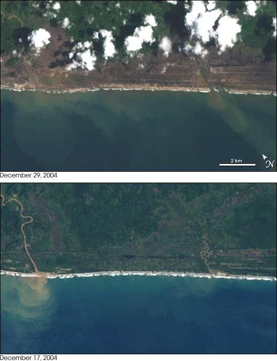 Dégâts du tsunami dans la province d'Aceh, Sumatra
