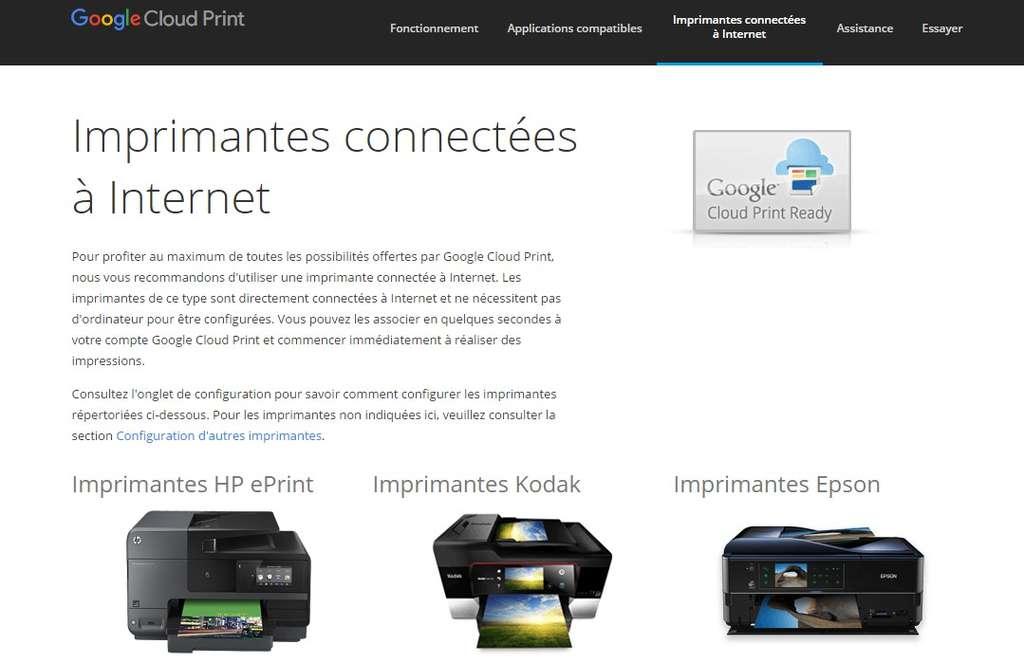 Google Cloud Print se configure directement depuis une imprimante connectée. © Futura-Sciences