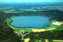 Vue aérienne du Laacher See. © DR