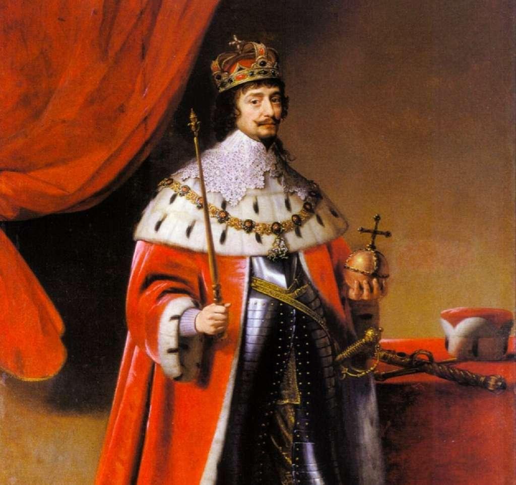 Portrait de Frédéric prince électeur palatin, en roi de Bohême, par Gerard van Honthorst en 1634. Musée du Palatinat, Heidelberg, Allemagne. © Wikimedia Commons, domaine public