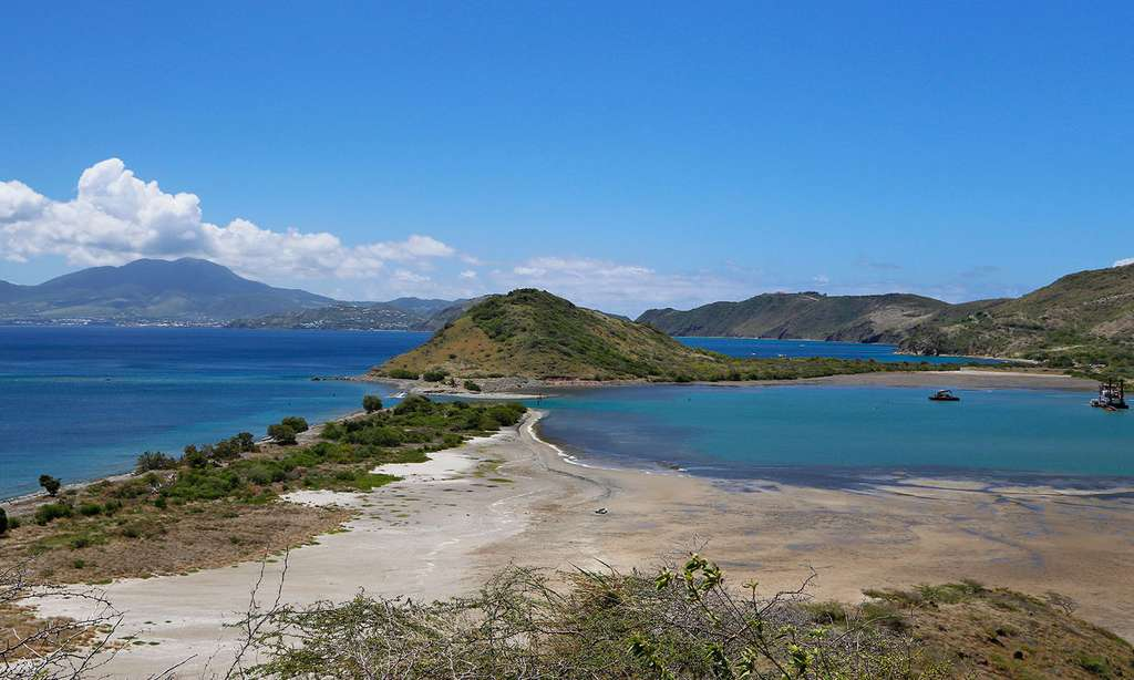 Salt Pond, étang salé de Saint-Kitts. © Antoine, tous droits réservés