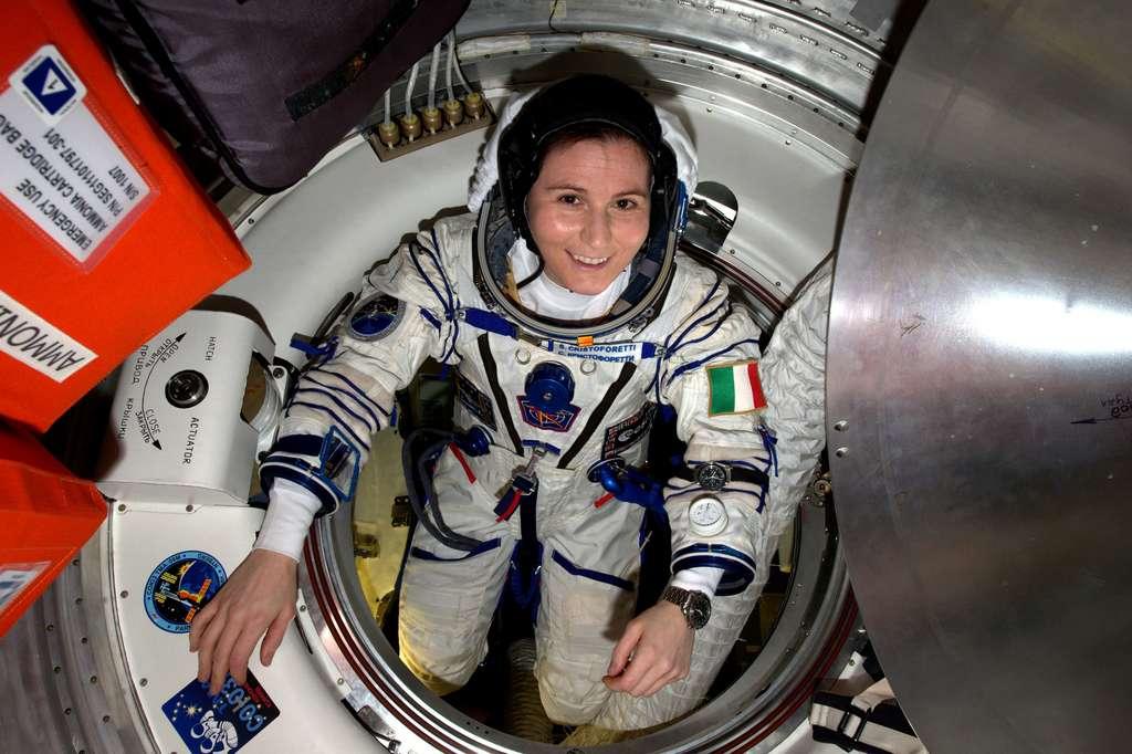 L'astronaute italienne Samantha Cristoforetti détient, pour l'heure encore, le record du plus long séjour dans l'espace pour une femme. © Nasa, ESA