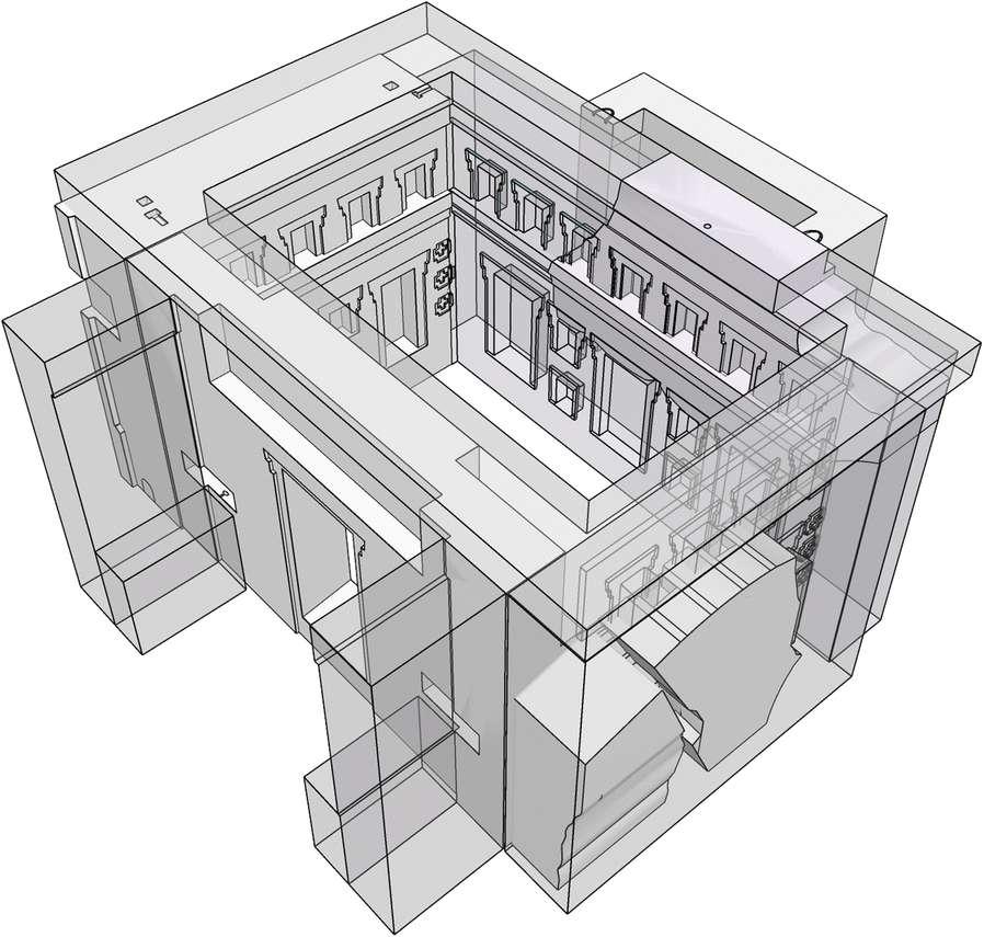 La reconstitution virtuelle du temple de Pumapunku en 3D. © Alexei Vranich, Heritage Science