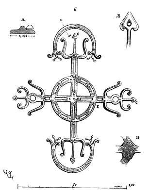 Penture de la porte de l'église Saint-Martin d'Angers. © Wikipedia