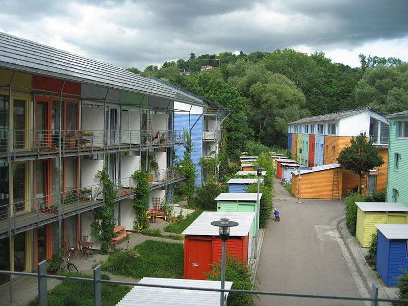 L'écoquartier Vauban, à Fribourg-en-Brisgau, en Allemagne