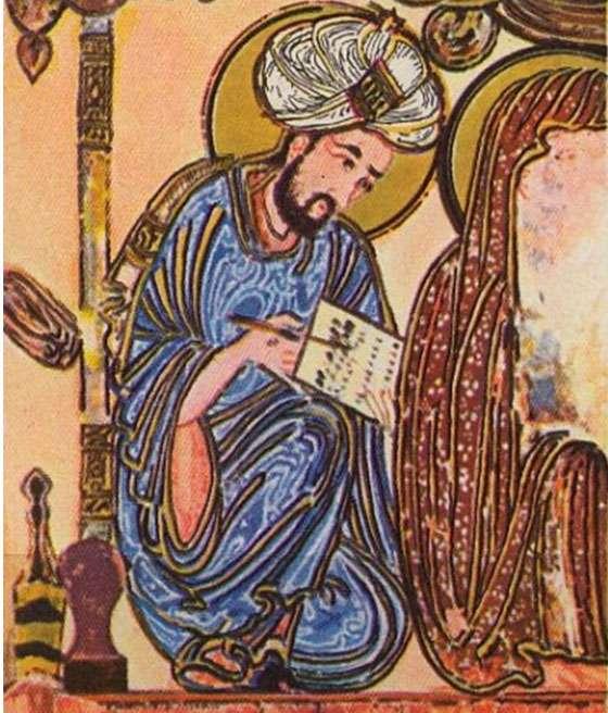 Portrait du mathématicien arabe Abu Yusuf Yaqub ibn Ishaq al-Kindi (801–873). © Dubsahara