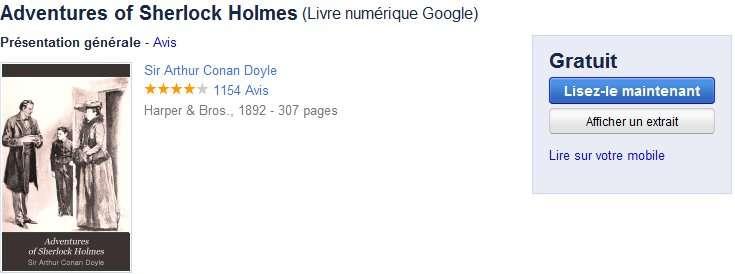 Des livres gratuits mais pour l'instant en anglais. © Google