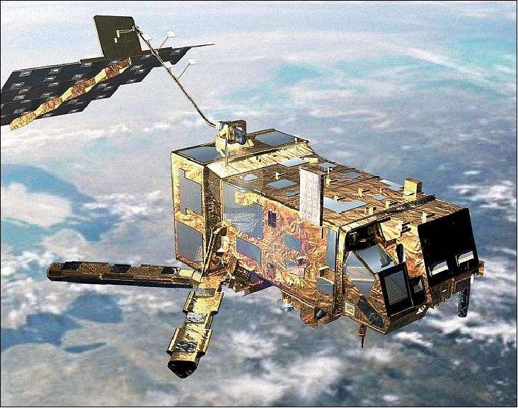 Le satellite Metop-A (image d'artiste). © Esa/Eumetsat
