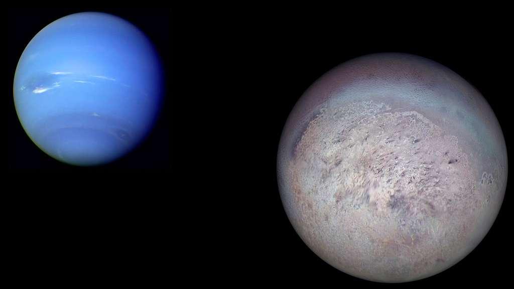 Neptune et sa lune Triton