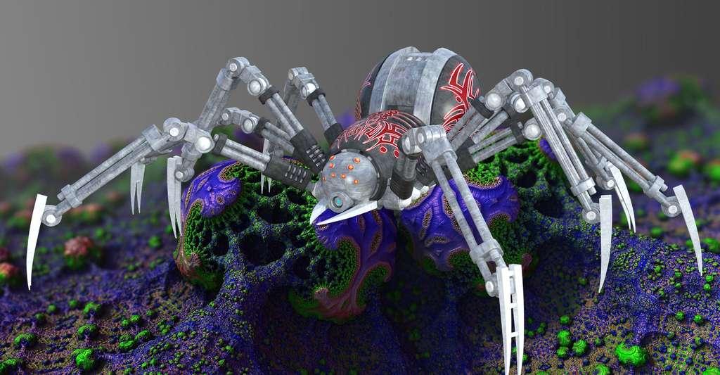Découvrez l'approche animat. Ici, une araignée robot. © PeteLinforth, CCO