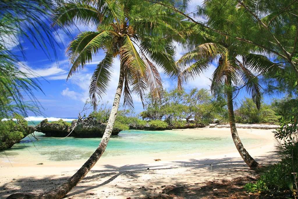 Plage paradisiaque sur l'île de Rimatara