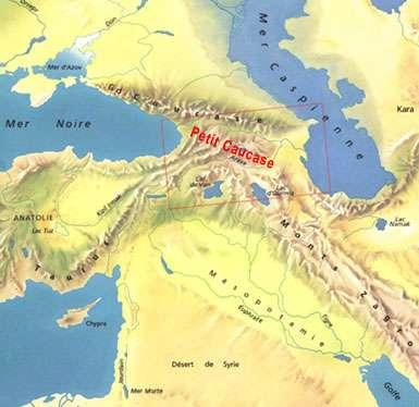 Carte du Petit Caucase
