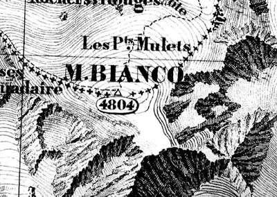 Extrait de la planche d'un Atlas sarde de 1869 conservé à l'IGN.