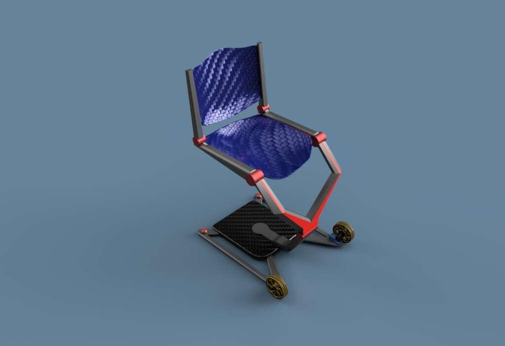 L'Air Chair, une chaise roulante pliable pour faciliter les voyages en avion des personnes handicapées. © James Dyson Award