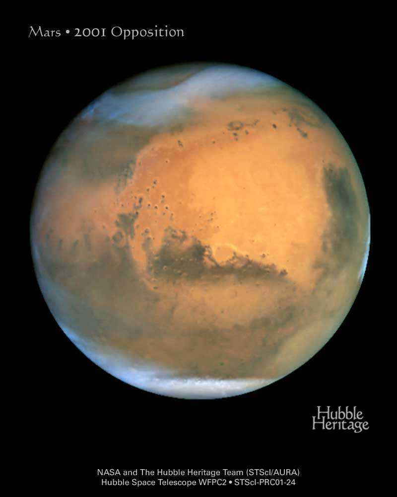 Hubble : Mars, opposition de 2001
