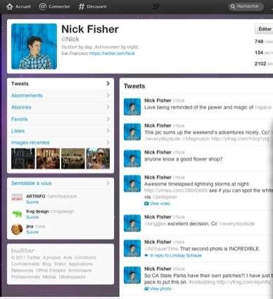 Twitter a réussi son coup avec cette interface plus claire et mieux organisée. © Twitter