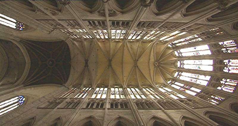 Voûte de la cathédrale Saint-Pierre de Beauvais. © Urban, CC by sa 3.0