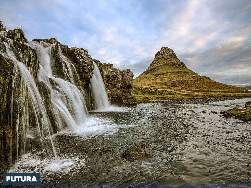 Islande, cascade près de Reykjavik